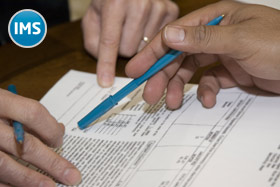 Signing a tax form
